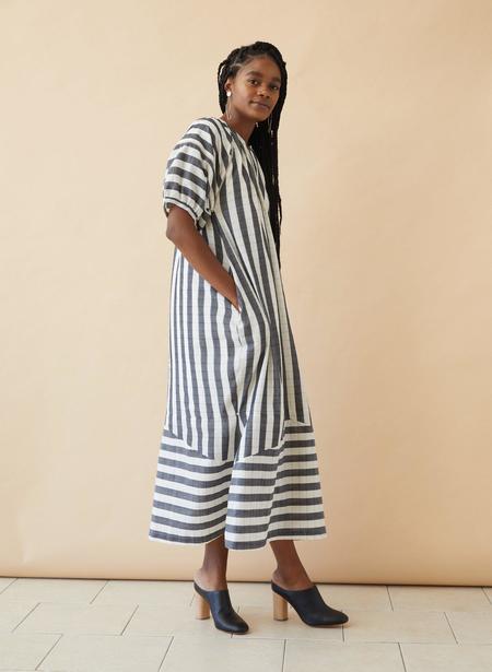 Seek Collective Goa Dress - Black/White Stripe