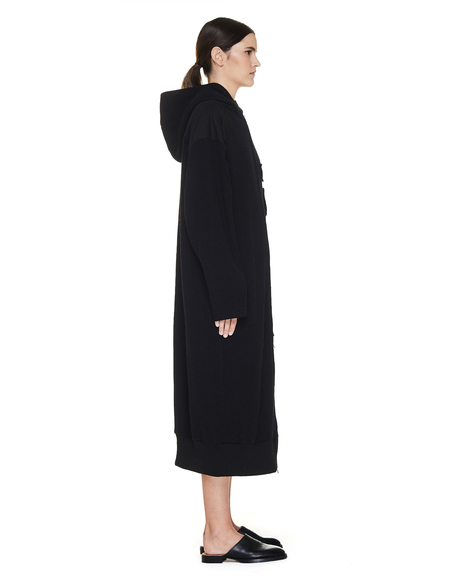 Y's Long Sweater With Nylon Patches - black