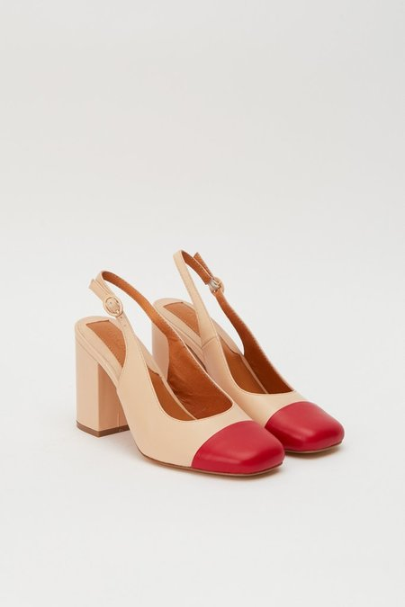 Jaggar The Label Cultivate Pump - Ivory/Red