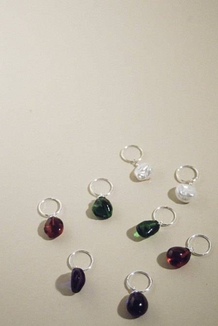 Mars RUBY Daily Sleepers - StErling Silver/Resin