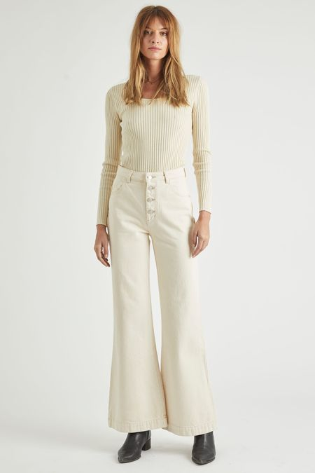 Rollas Eastcoast Flare Pant - Natural