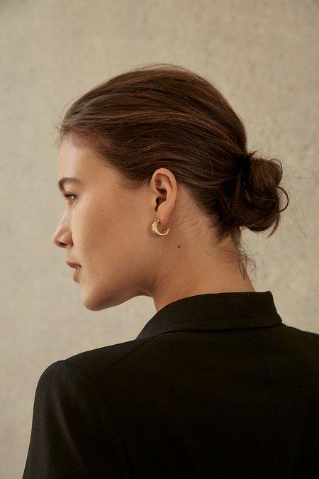 BRIE LEON Large Ranura Earrings - Gold plated/brass