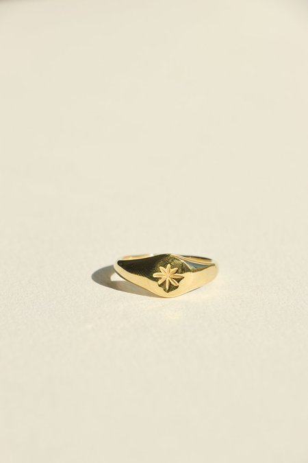 BRIE LEON Luna Ring - Gold Plated/steel