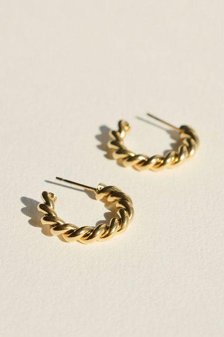 BRIE LEON Small Twist Stud Earrings - Gold Plated/Steel