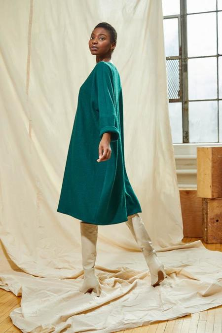 Devlyn Van Loon Flared Pullover Dress - Juniper