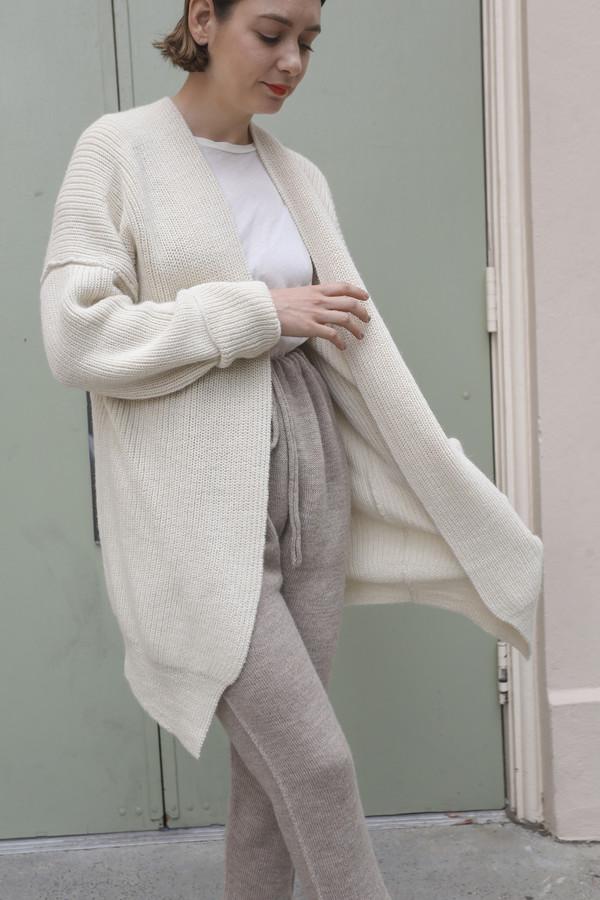 Lauren Manoogian Fisherman Cardigan in White
