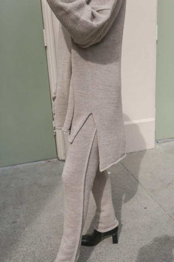 Lauren Manoogian Oversized Roll Neck Sweater in Oatmeal