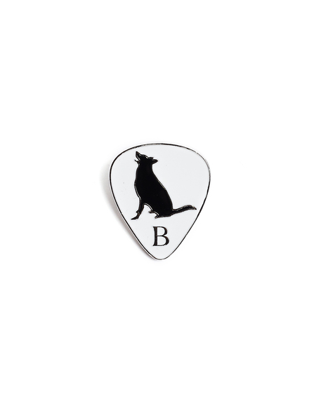Yohji Yamamoto White Guitar Pick Pin Badge