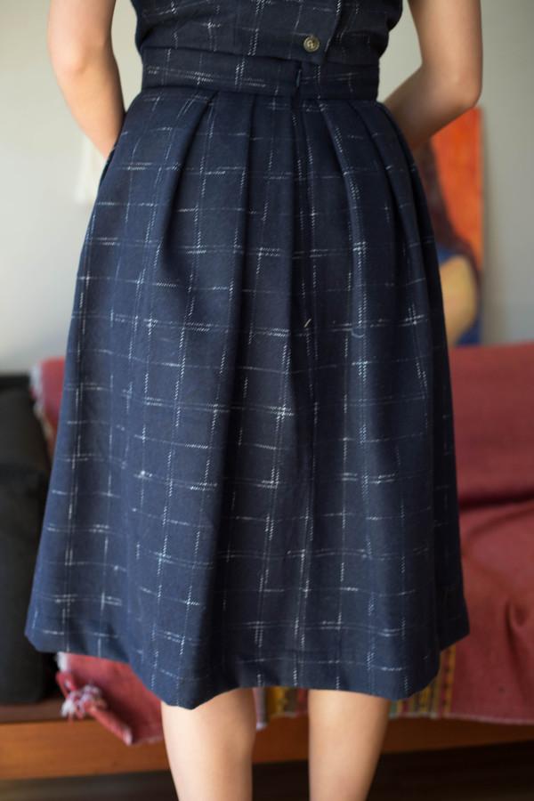 Birds of North America Amazon Skirt (Navy)