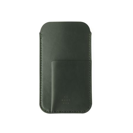 UNISEX MAKR iPhone Card Sleeve Case - Smooth Moss