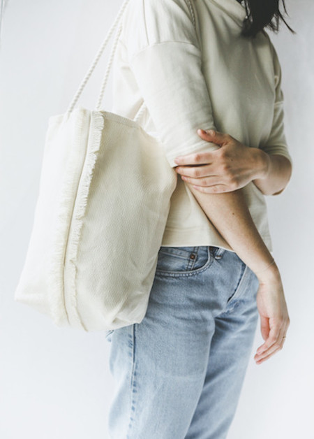 Lotfi Fila Tote in Hemp Basketweave