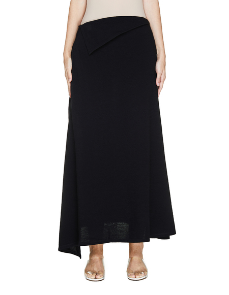 Yohji Yamamoto Black Wool Skirt