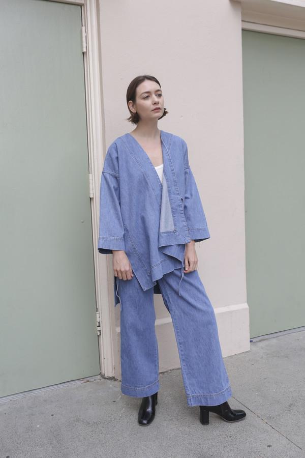 Caron Callahan Carson Kimono in Blue Denim