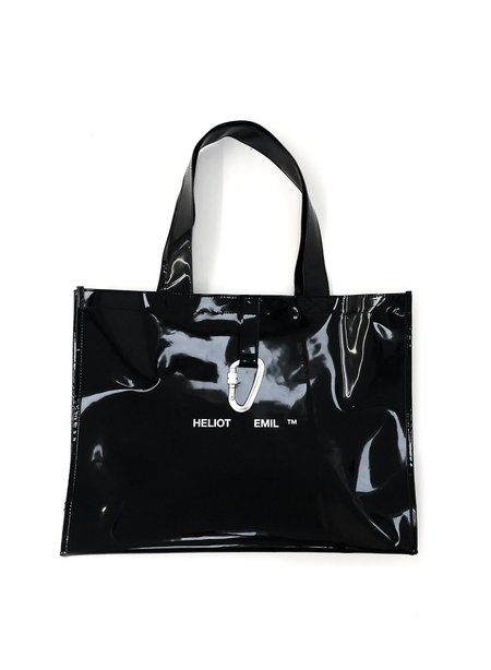 Heliot Emil Rubber Tote Bag - Black