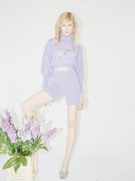 Greta Boldini Bel Air Biker Shorts - Lilac