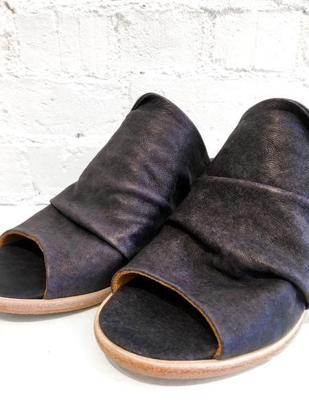 P. Monjo Abiso Peep Toe Heels - Charcoal