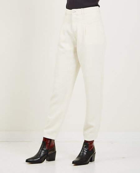 Closed Peal Cotton Pants - Linen White