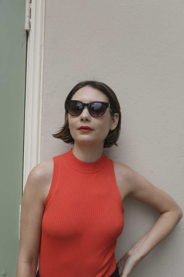 Kate Young x Tura Sunglasses in Black Tortoise