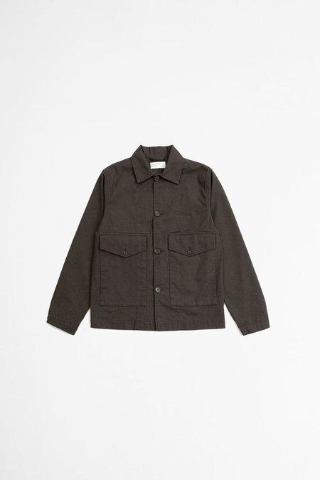 Universal Works Watchman II jacket - tinto cotton chocolate