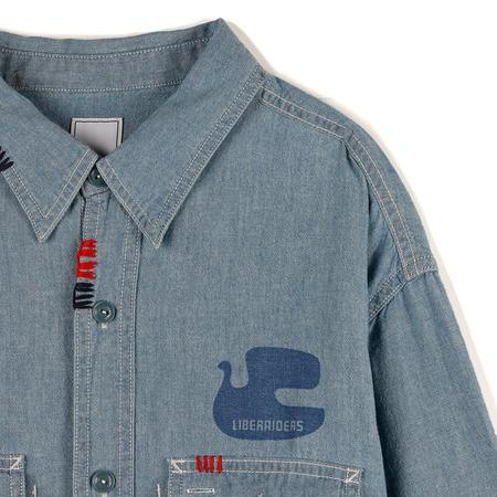 Liberaiders Peace Chambray Button Up - Blue
