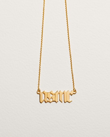 Pamela Love itsblitzzz Nameplate necklace - 14k yellow gold/sterling silver