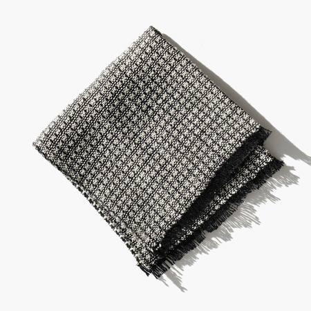 Kindred Black Linen Blend Basket Weave Face Cloth