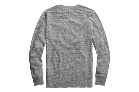 RRL Waffle-Knit Cotton Crewneck - Grey Heather