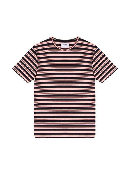 Wax London Futura Tee - Navy Stripe