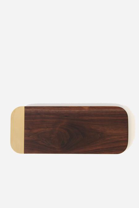 Elijah Leed Small serving tray in walnut