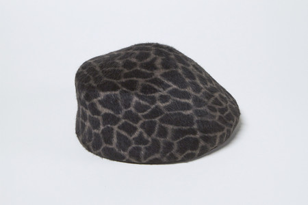 Clyde Sazy Hat in Giraffe Angora