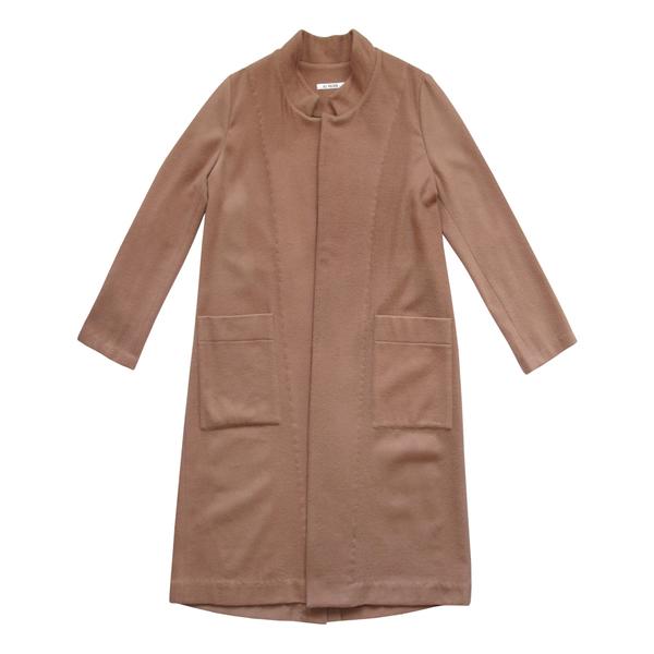 Ali Golden Wool Notch Coat