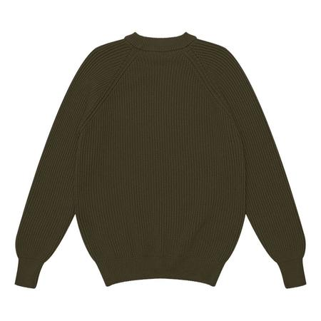 Knickerbocker Heavy Rib Cotton Sweater - Olive