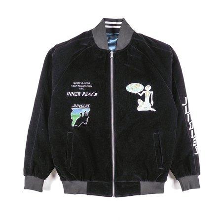 Jungles Sukujan Jacket Reversible - Black/Blue/White