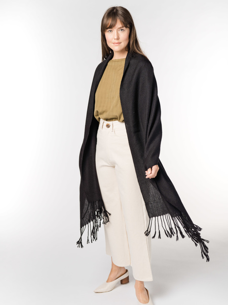 Laude The Label Handwoven Travel Wrap - Ink