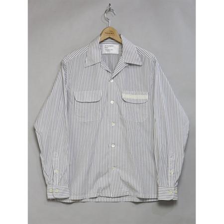 Mountain Research Open Collar Shirt - Grey Stripe