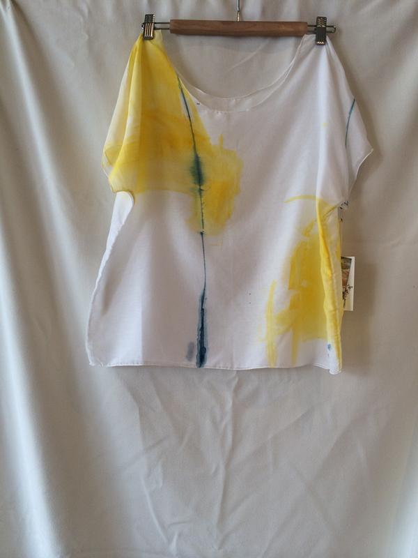 Dear Pony Hand Painted silk/cotton tee