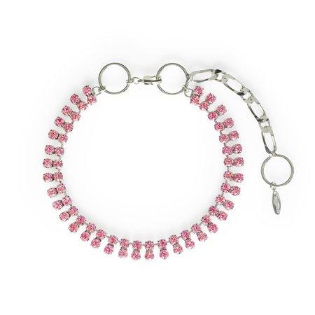 Joomi Lim Chain Hoop & Crystal Necklace - Brass/Rhodium
