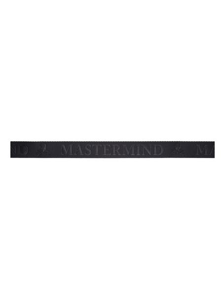 Mastermind WORLD Black Logo Tape Belt
