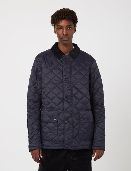 Barbour Diggle Quilted Jacket - Navy Blue