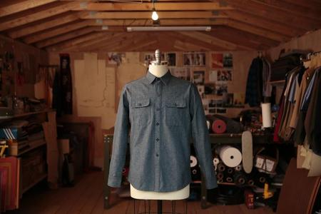 Product of Bob Scales WORK SHIRT - LIGHT DENIM VARIeGATED