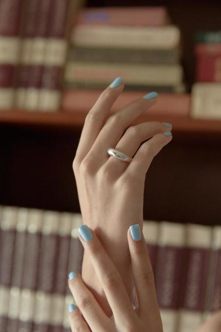 Mars Half Blimp Ring - Silver