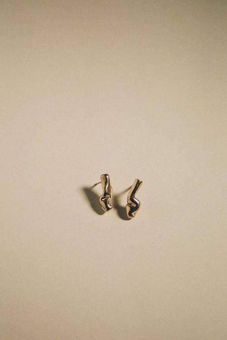 Mars Retta Studs Earrings - Gold