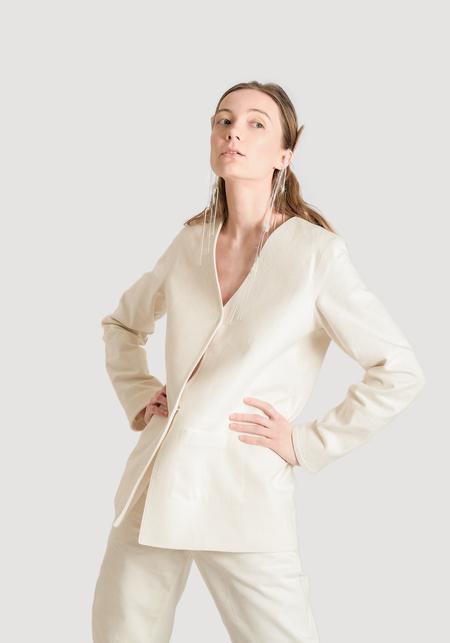OK KINO Upcycled denim jacket - White