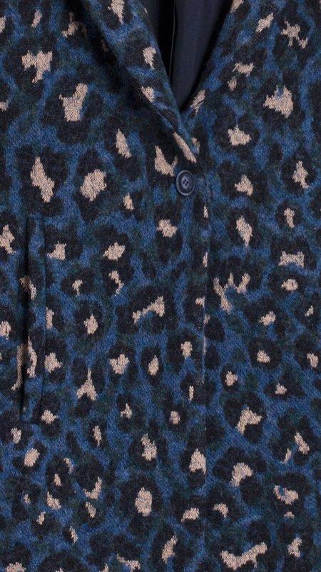 Vilagallo Alberta Coat - Blue Mimetic Leopard
