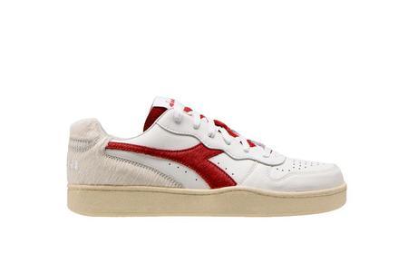Diadora x Danilo Paura Low Paura MI Basket Sneaker - White/Red