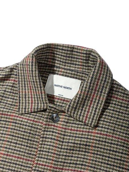 Native North Tweed Utility Jacket - Beige