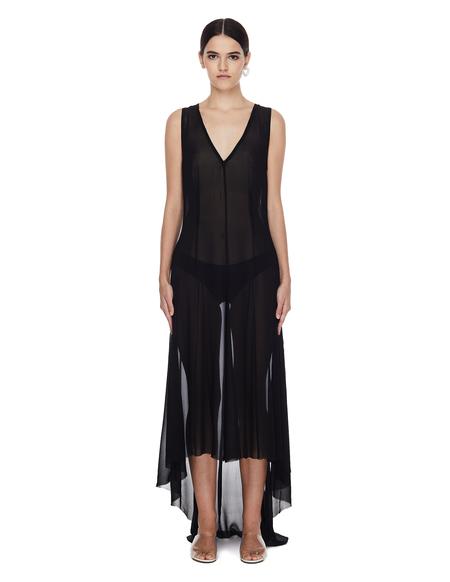 Ann Demeulemeester Translucent Elongated Black Dress