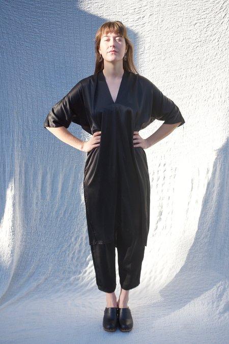Miranda Bennett Muse Silk Charmeuse Dress - Black