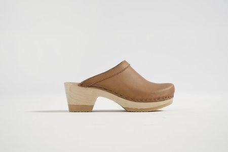 No.6 Old School Clog on Mid Heel - Palomino