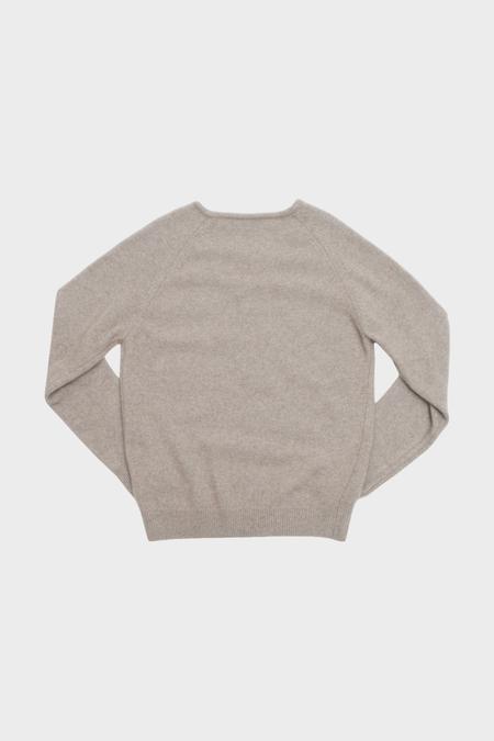 AMOMENTO Racoon V-Neck Knit - Beige